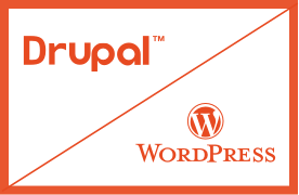 Drupal and Wordpress Logos