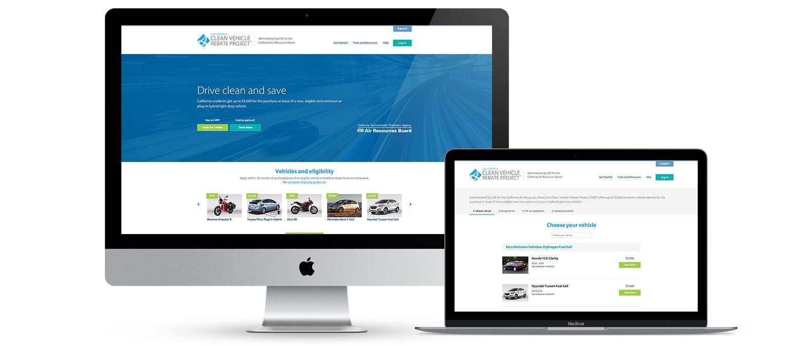 Clean vehicle rebate website