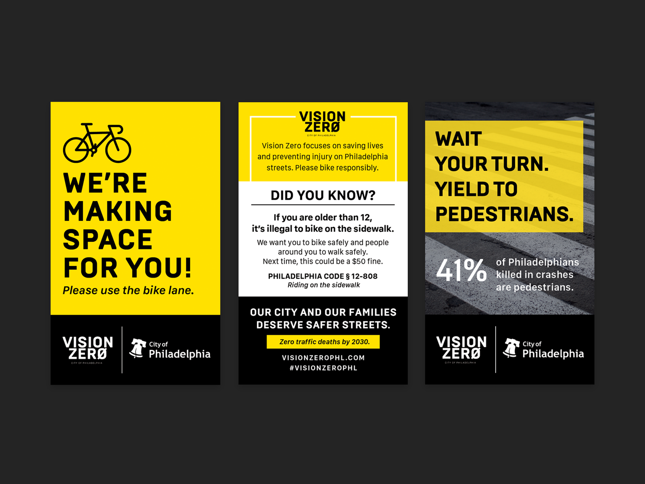 Vision Zero Palm Cards