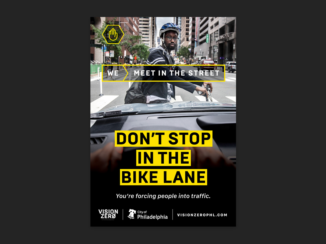 Vision Zero Educational Campaign Poster