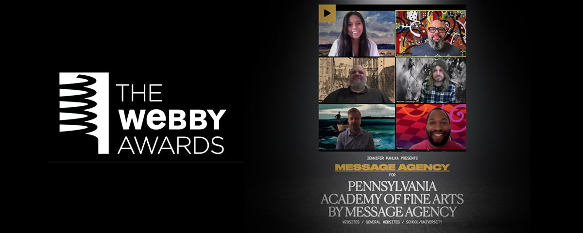 Message Agency win Webby Award for Pafa.org!