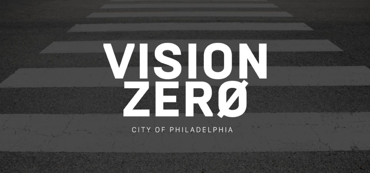 An image of the Vision Zero Philadelphia logo wordmark