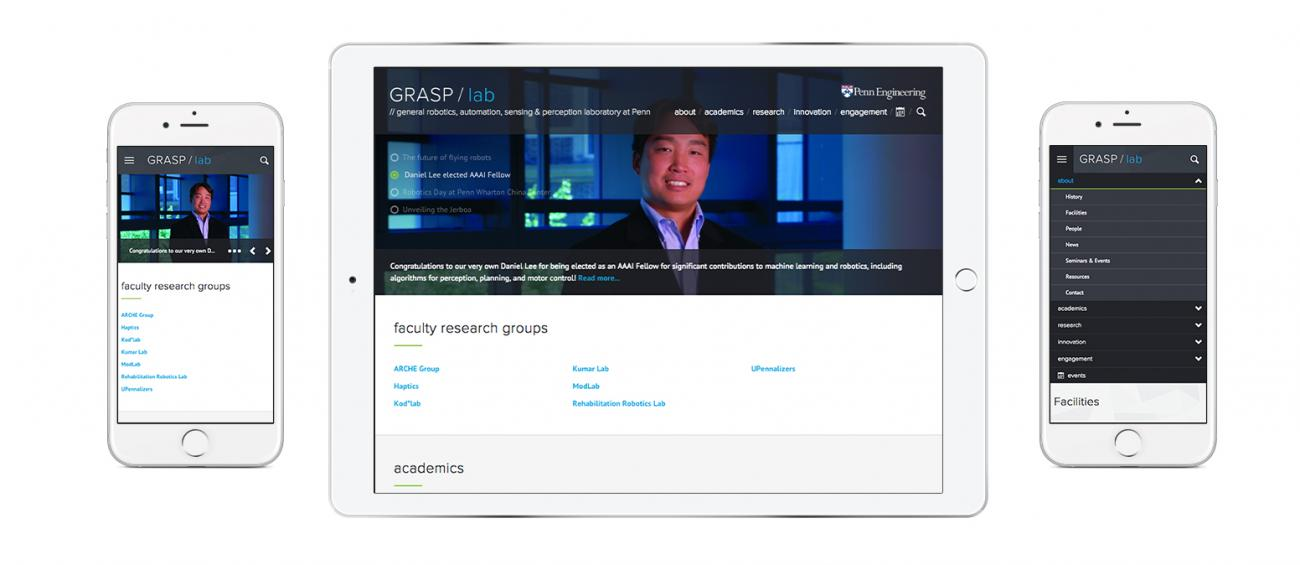 GRASP website on desktop and mobile