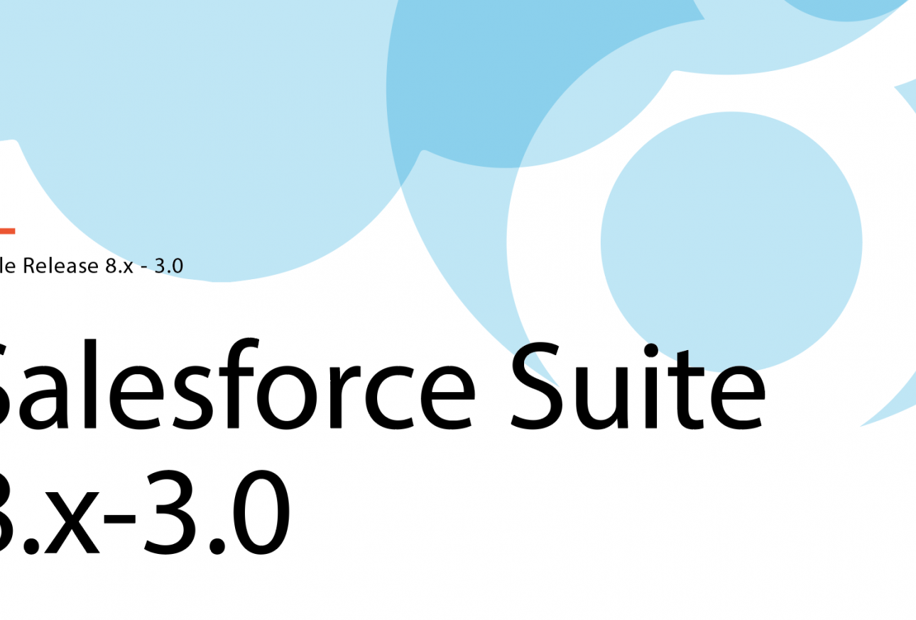 Salesforce cloud and Drupal 8 logo with title, Salesforce Suite 8.x - 3.x