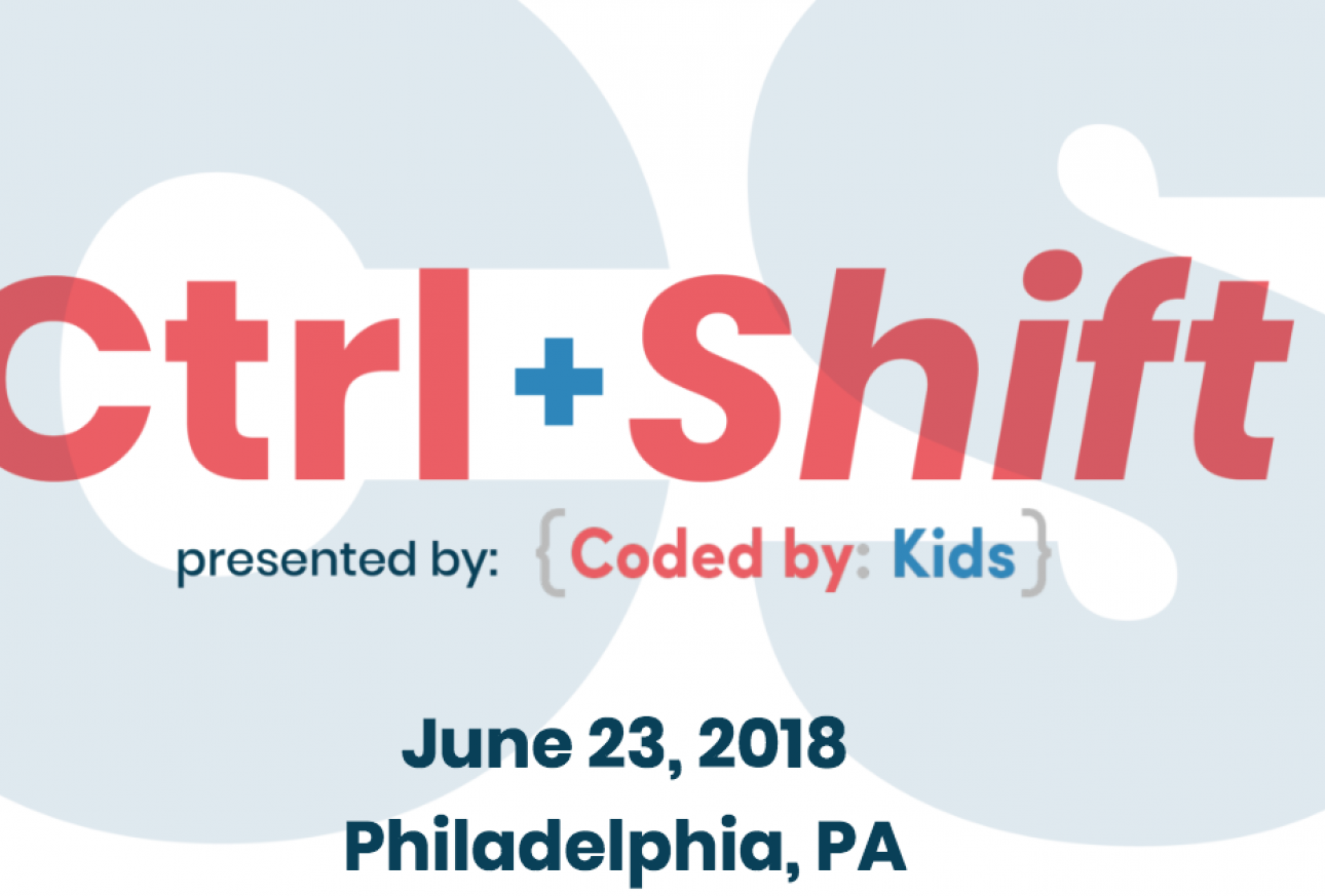 Ctrl + Shift Competition logo, hosted by Coded by Kids